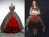 Alice in Wonderland Cosplay Alice Costume Outfit*Floor length with pannier Version