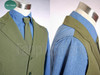 Optional inside set: $75.00 Including:      double layered green vest;     grayish blue shirt;     brown necktie;