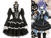 Gothic Lolita Black&White School Dress&Hairdress