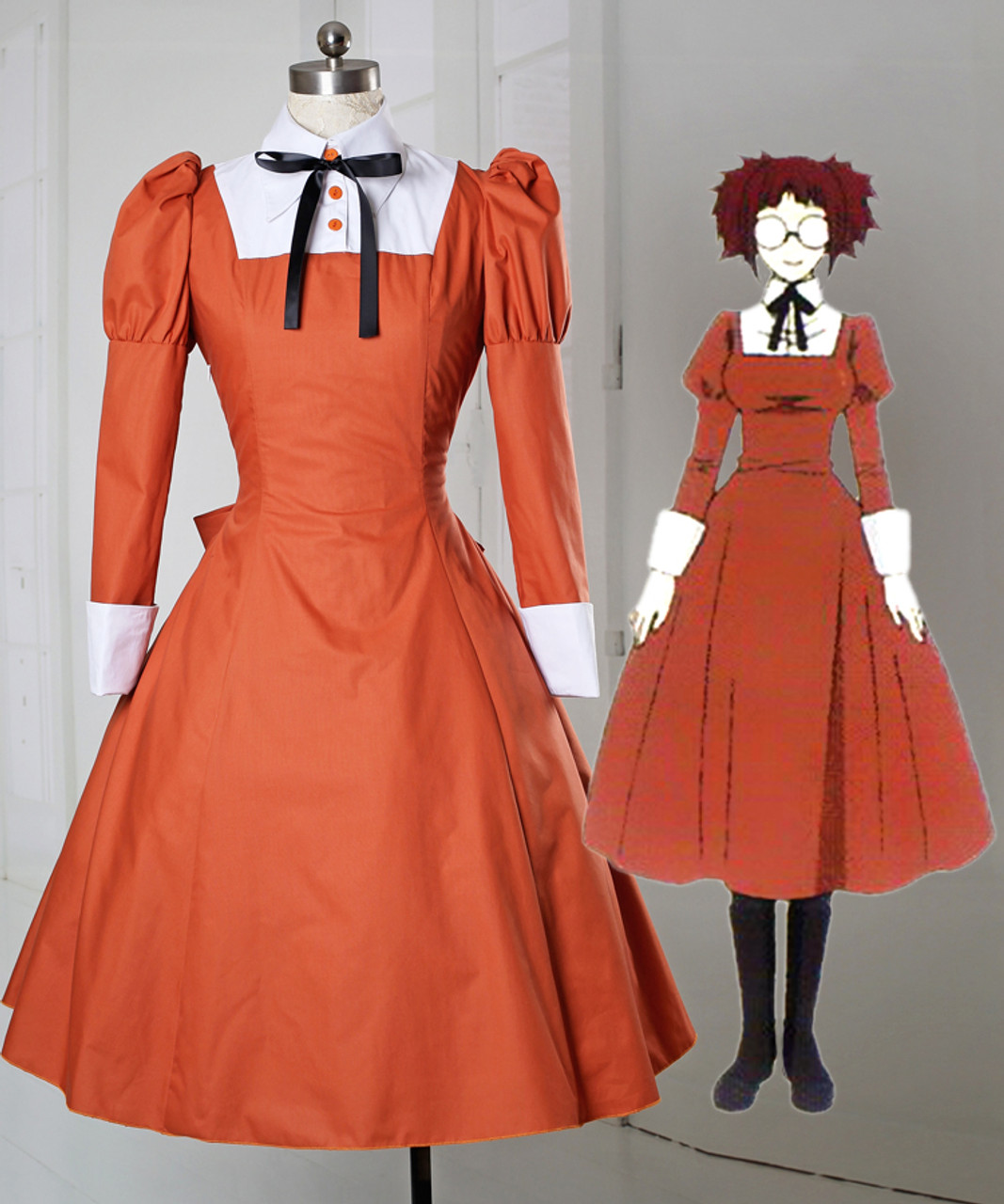 Black Butler Mey-rin Maid Costume Cosplay Clothing Costume-made