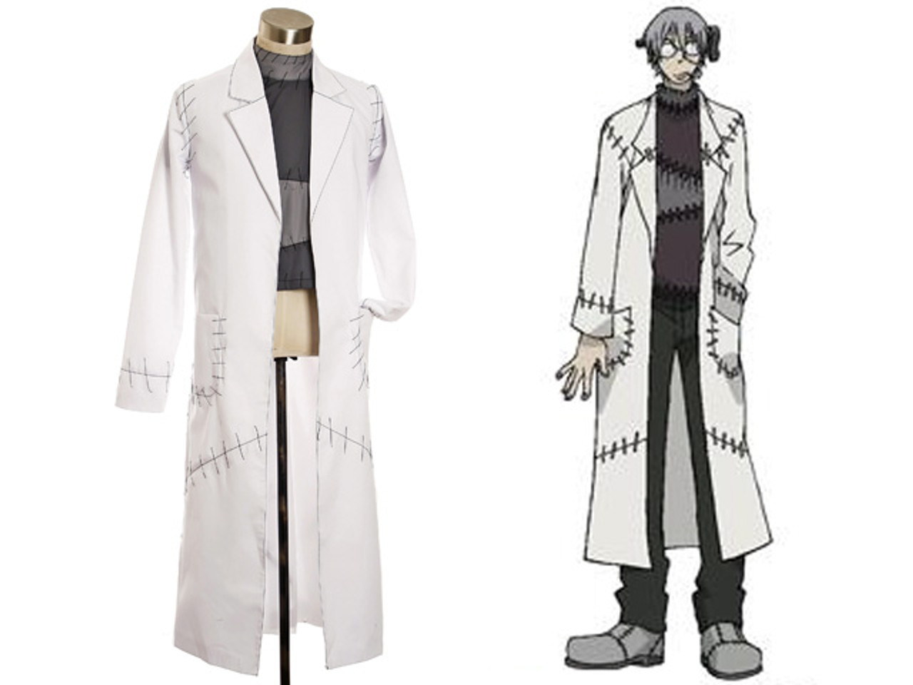 Soul Eater Franken Stein Doctor Cosplay Costume from Soul Eater Uniform Suit