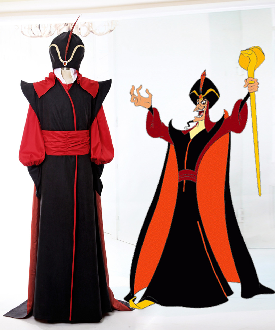 Aladdin Disney Cosplay Jafar Costume Set