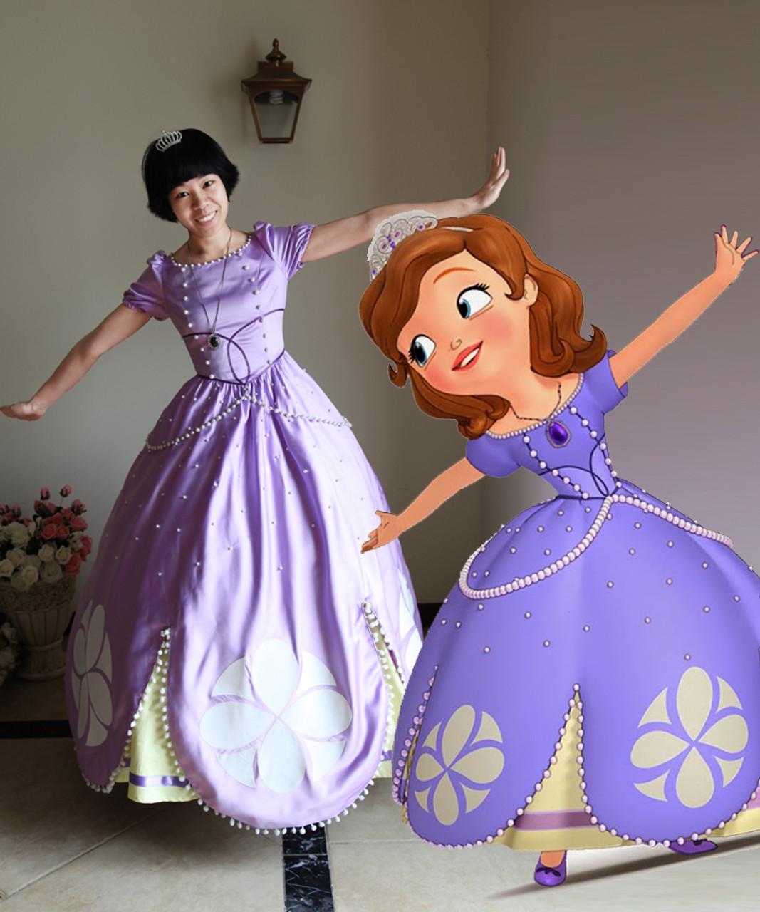 Disney Princess Sofia The First Cosplay Princess Sofia Costume Set