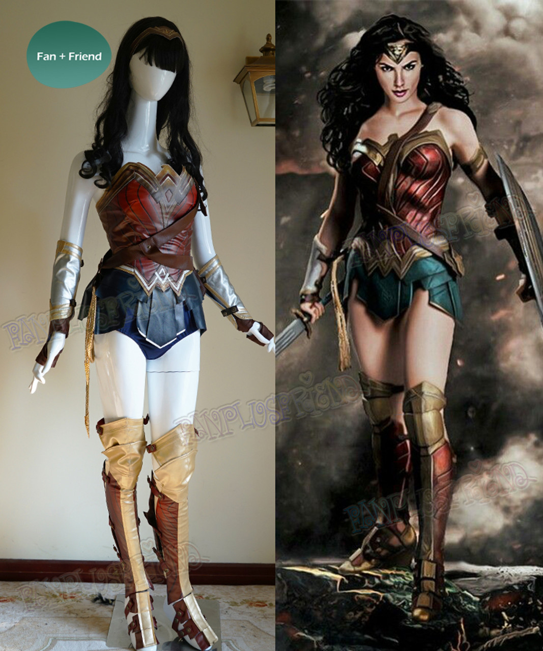 Adult Wonder Woman Costume Power Superhero Cosplay Corset Outfit