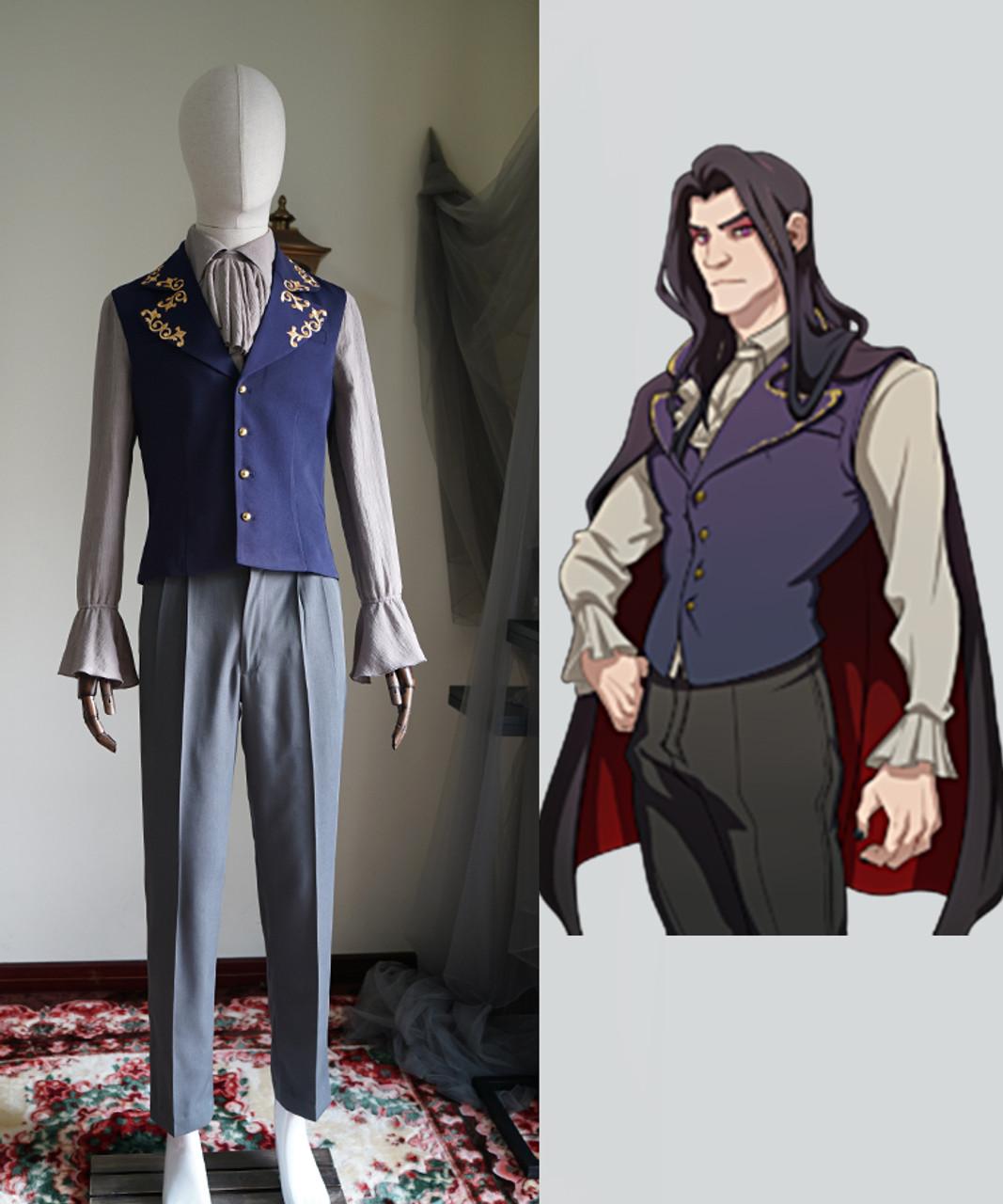 Dream Daddy (Game) Cosplay, Damien Bloodmarch Gothic Costume Set