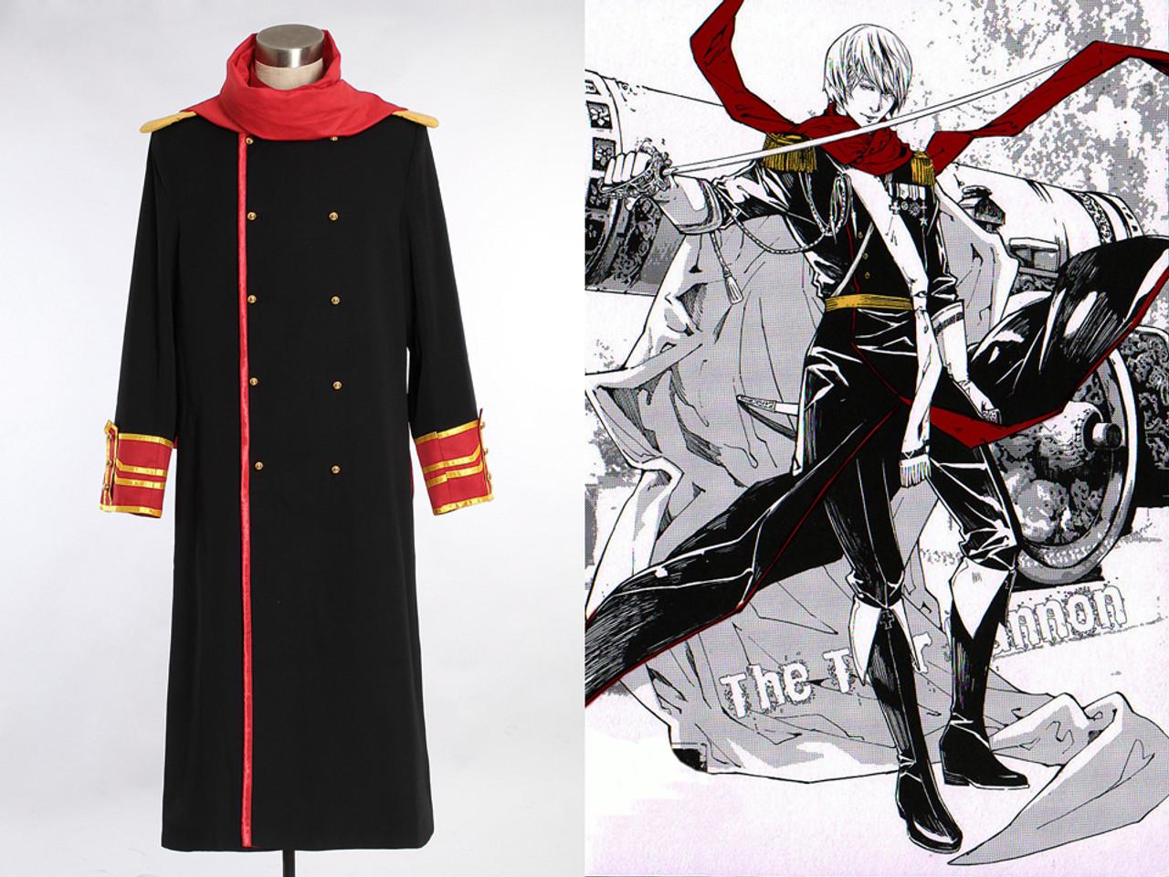 Axis Power Hetalia Cosplay Ivan Braginski Costume Long Jacket /& Scarf N Russia