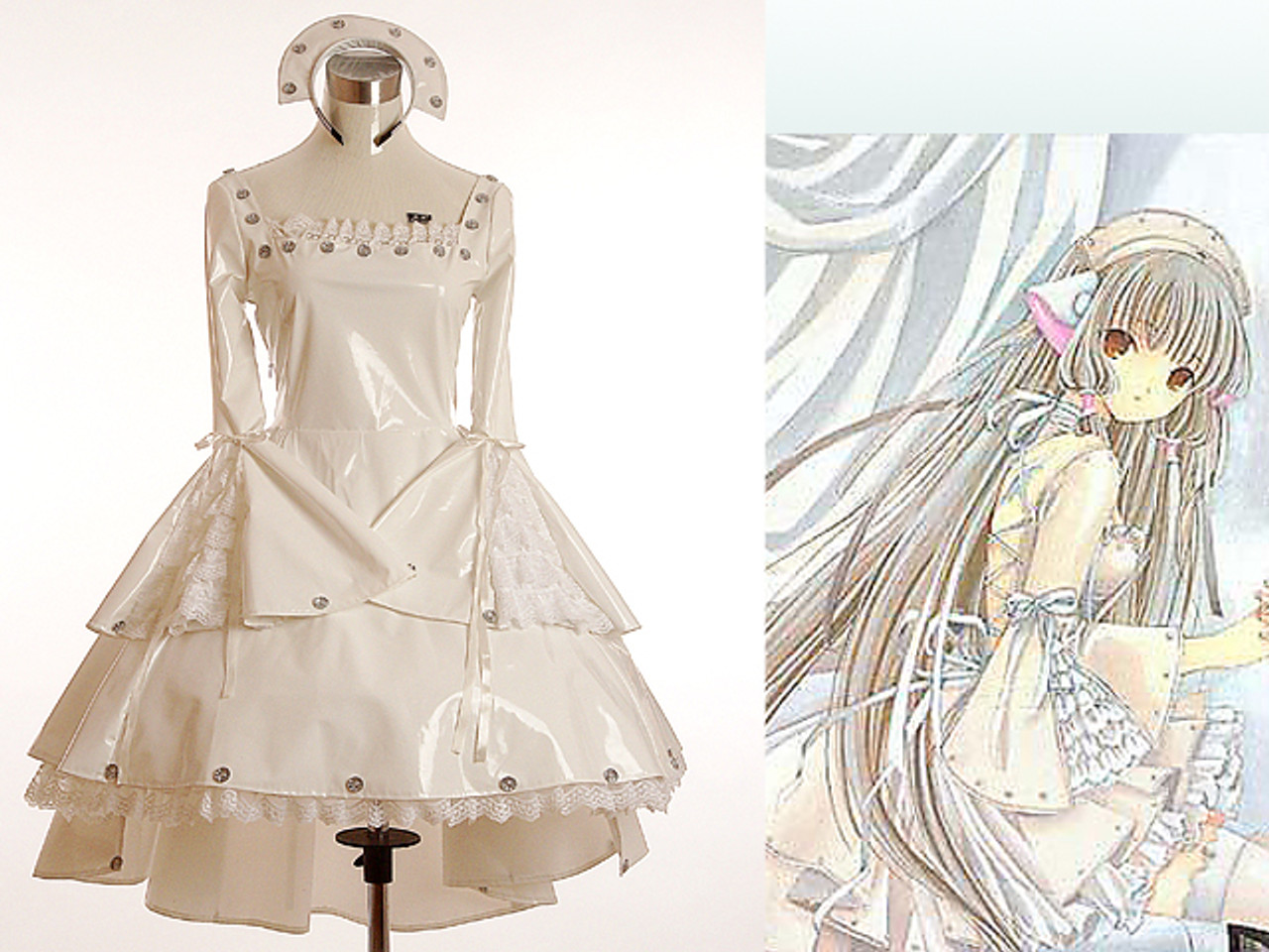 Chii Brown Dress Cosplay Costume from Chobits
