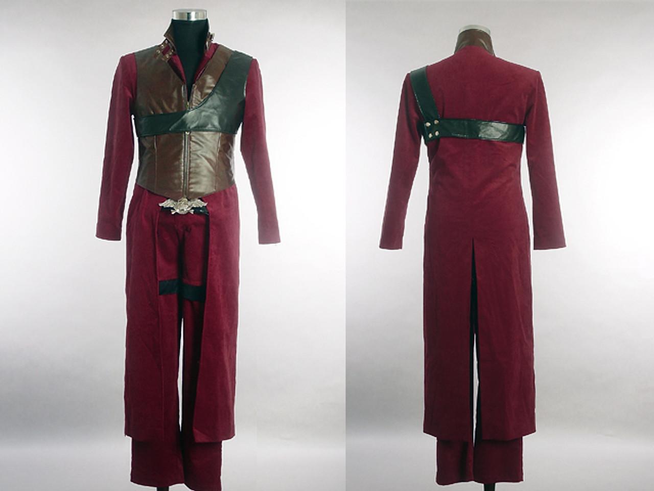Devil May Cry Cosplay Dante S Dark Red Corduroy Costume Set