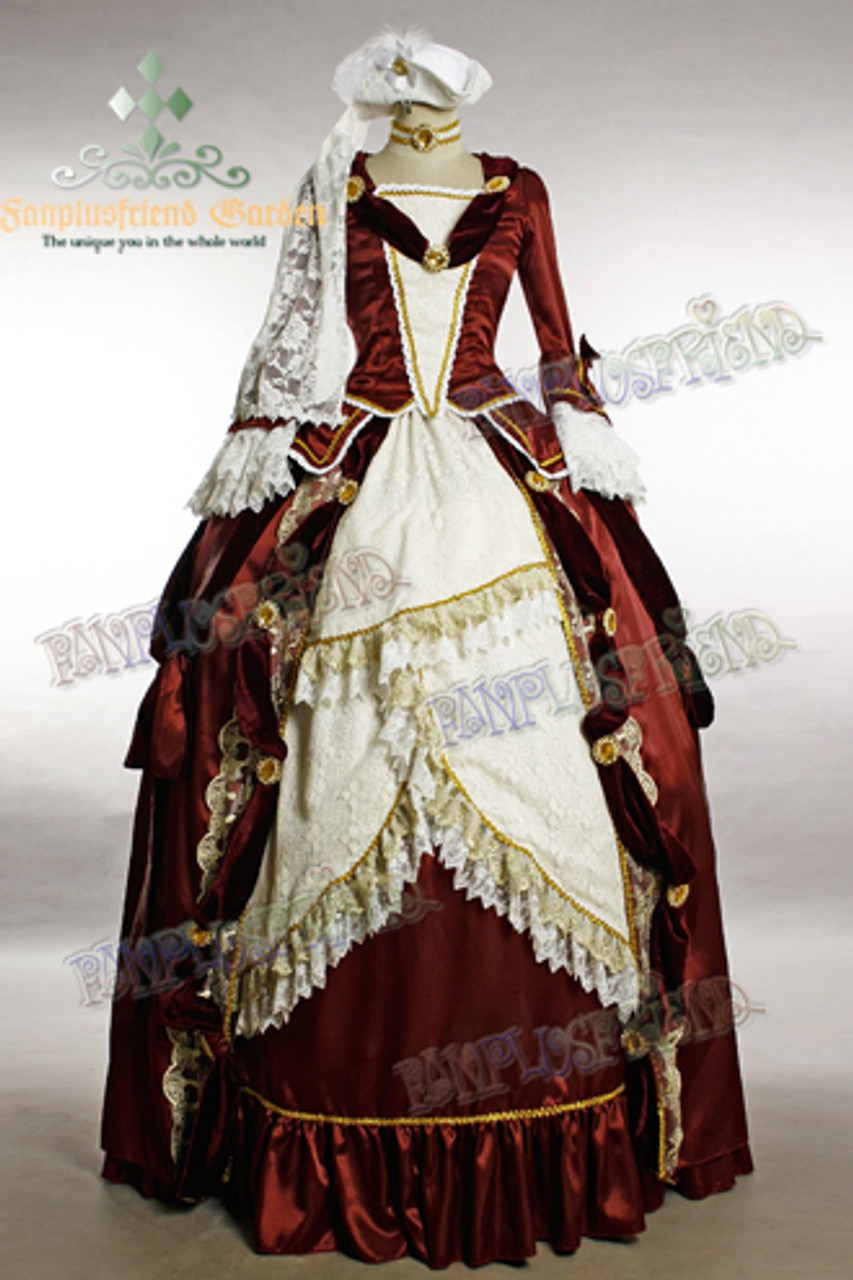 Marie Antoinette Rococo Dress Pocket Hoops Panniers Petticoat Corset