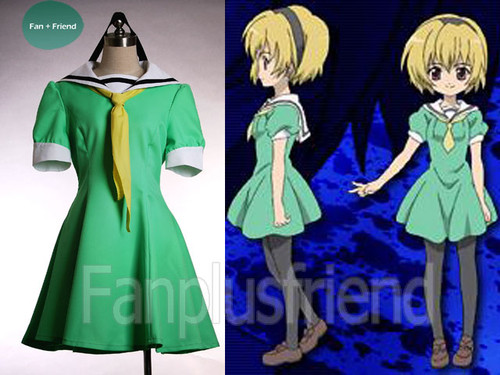 Higurashi Cosplay,Satoko Navy Dress