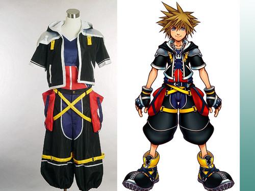 Kingdom Hearts Cosplay, Sora's Black Costume Set