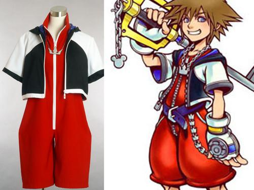 Kingdom Hearts Cosplay: Sora Costume Set, 4 pcs Costume Set