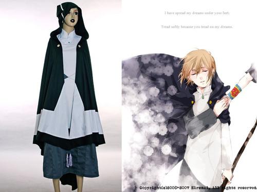 BRAVE STORY Cosplay,Ashikawa Mitsuru Gown&Hood Cloak