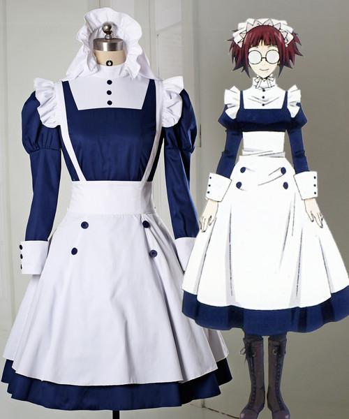 Black Butler/Kuroshitsuji Cosplay Mey-Rin Costume Maid Uniform