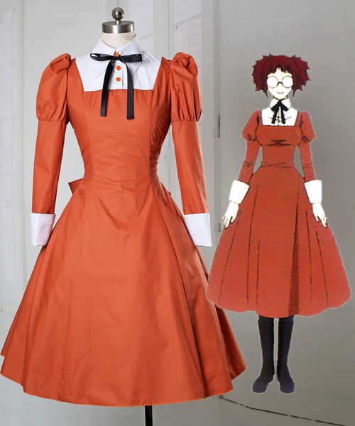 Black Butler/Kuroshitsuji Cosplay Mey-Rin Costume Outdoor Dress