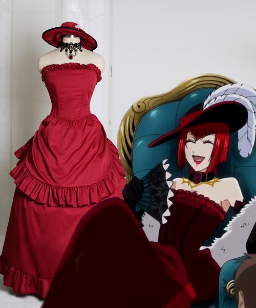 Black Butler/Kuroshitsuji Cosplay Angelina Durless (Madam Red) Costume Party Dress