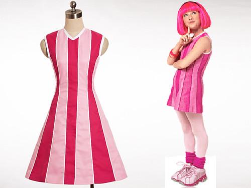 Lazy Town Cosplay Stephanie Costume Set