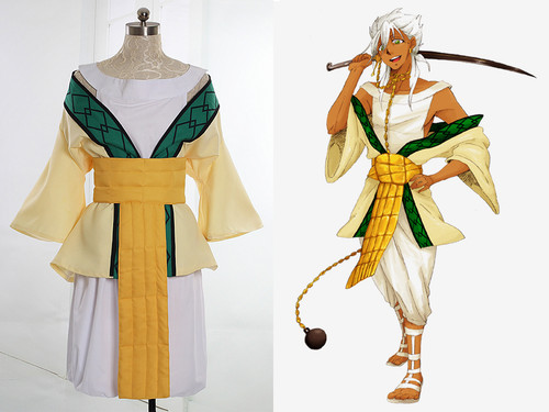 Magi Cosplay, Sharrkan Costume Outfit Set