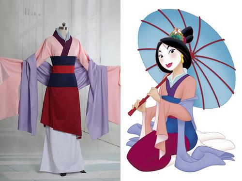 Disney Mulan Cosplay, Mulan Chinese Costume Outfit