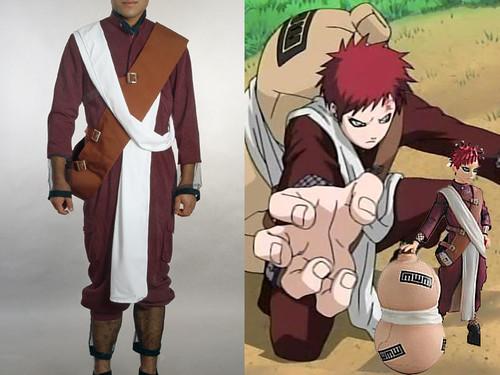 Naruto Cosplay, New Version Gaara Costume