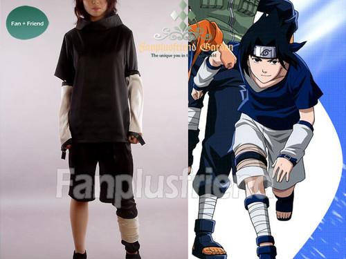 Naruto, New Black Version Sasuke Uchiha Cosplay Costume!