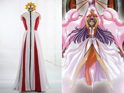 Revolutionary Girl Utena cosplay Rose Bride Anthy Himemiya Costume Dress Set