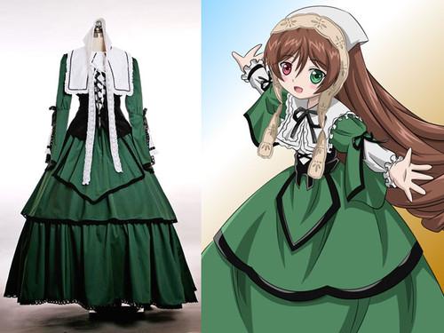 Rozen Maiden Cosplay Suiseiseki Fine Velveteen n Cotton Outfit