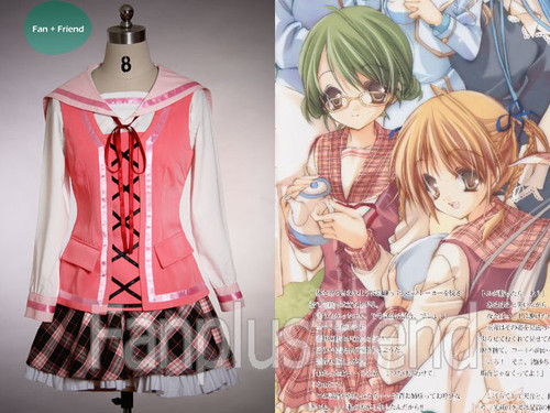 Strawberry Cosplay, Girl's School Uniform Set*3pcs