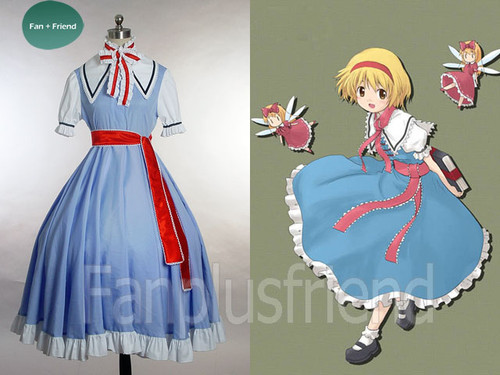 Touhou Project, Imperishable Night Cosplay, Magician Alice Margatroid Outfit Costume