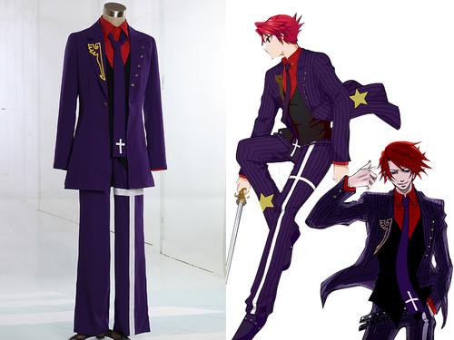 Umineko No Naku Koro Ni / Umineko: When They Cry, Ougon Musou Kyoku CROSS Cosplay, Black Battler Costume Outfit
