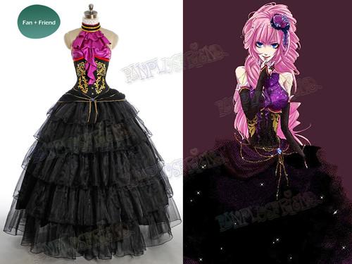 Vocaloid Cosplay Megurine Luka Costume Dress