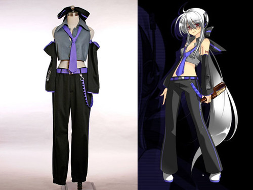 Vocaloid Cosplay, Haku Outfit Set*4pcs