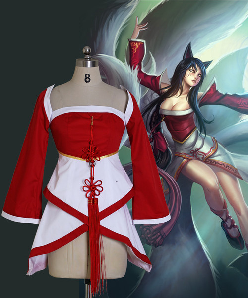 League of Legends Cosplay Ahri (The Nine-Tailed Fox) Costume Set