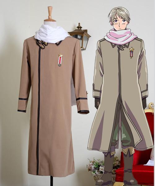 Axis Power Hetalia Cosplay Ivan Braginski (Russia) Costume Long Jacket & Scarf
