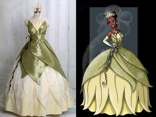 Disney The Princess and the Frog Cosplay Tiana Costume Dress Set