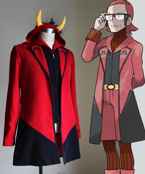 Pokemon ORAS Cosplay Magma Leader Maxie Costume Jacket & Vest