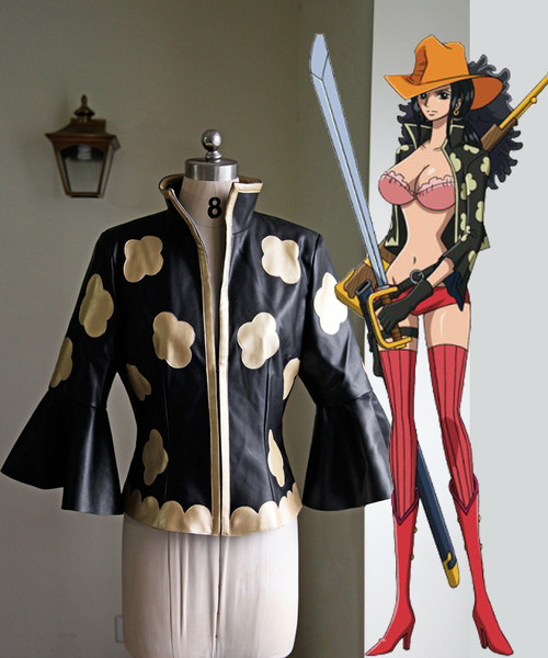 One Piece Film Z Cosplay Nico Robin Costume Jacket & Leg Pouch