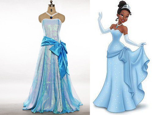 Disney The Princess and The Frog Cosplay, Princess Tiana Dress Set