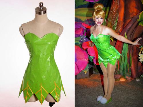 Disney Tinker Bell Cosplay, Tinker Bell Polyester Dress