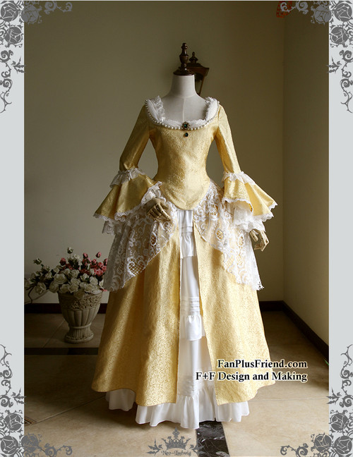 Front View (Golden Brocade + White Ver.)