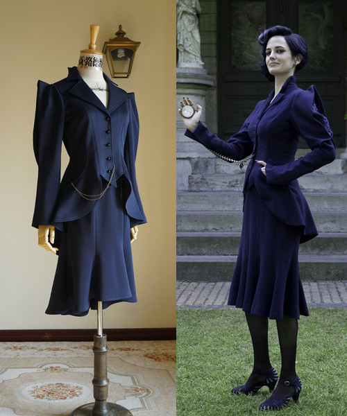 Miss Peregrine's Home for Peculiar Children (Tim Burton Film) Cosplay, Miss Alma LeFay Peregrine Costume Set