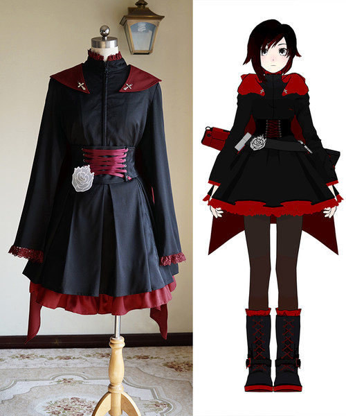 RWBY Cosplay, Ruby Rose Gothic Outfit Costume