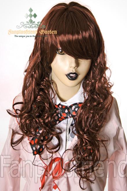 Last Chance: Gothic Lolita:Large Wavy Curls Long Wig*Chocolate
