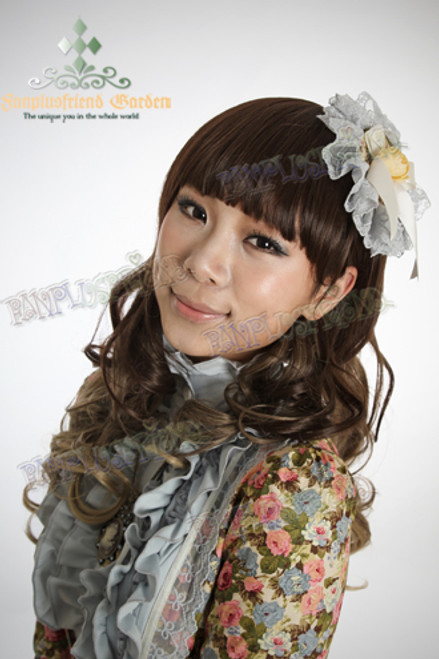 Last Chance: Fine Dull Wig Lolita Wave Hime Cut Double Colors Long Length*gradually changed color from chocolate to blond
