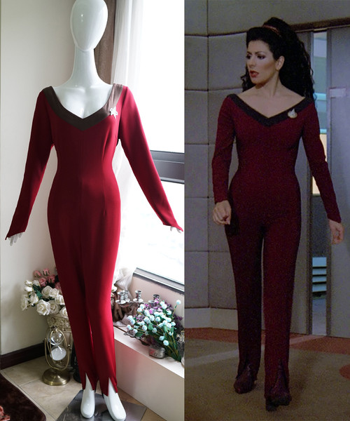 Star Trek The Next Generation Cosplay, Deanna Troi Jumpsuit Costume