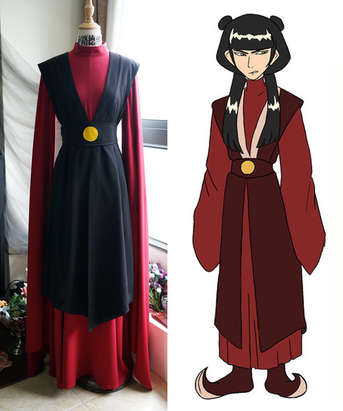 Avatar: The Last Airbender Cosplay, Mai Kimono Costume Set