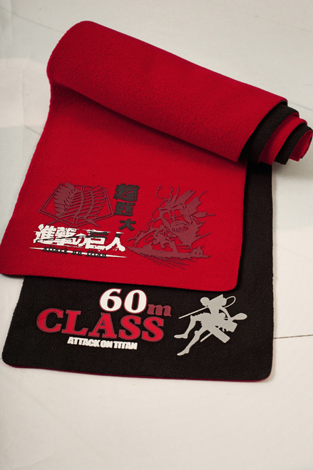 Blister Double Printing Warm Shawl (Attack on Titan)