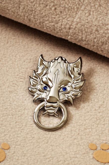 Gothic Wolf Head Brooch (Final Fantasy)