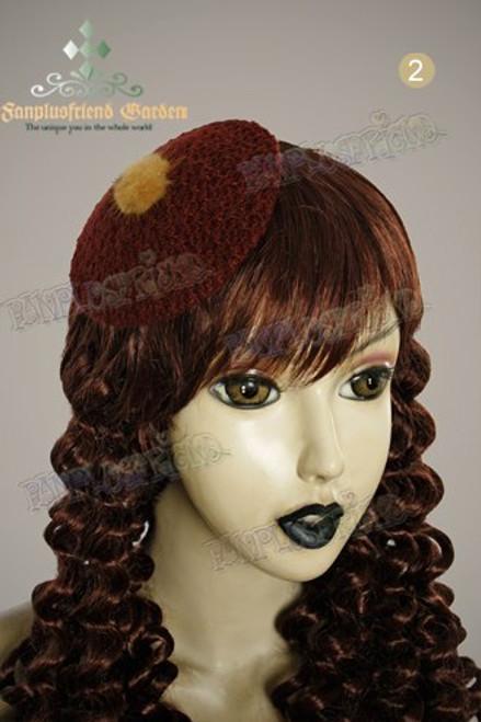 Elegant Classic Circle Knitting Mini Beret Hair Pin