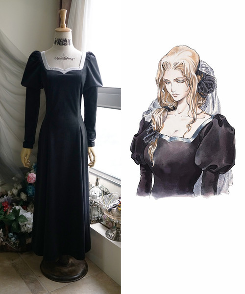 Castlevania (TV Series) Cosplay, Lisa Black Dress Gown Costume